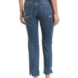 Free People Jeans - Free People Blue Slim Boyfriend Jeans Raw Hem NWT